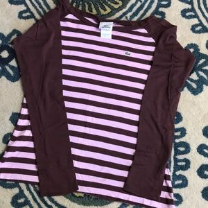 Lacoste Striped Long sleeve T shirt